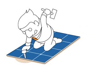 Die Montage der Photovoltaikanlage