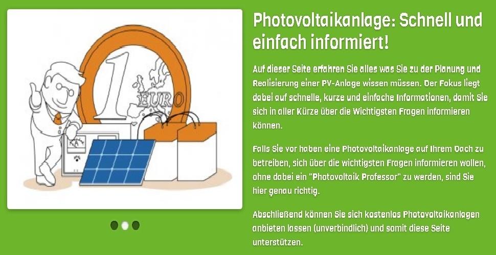 Photovoltaikanlage Informationen