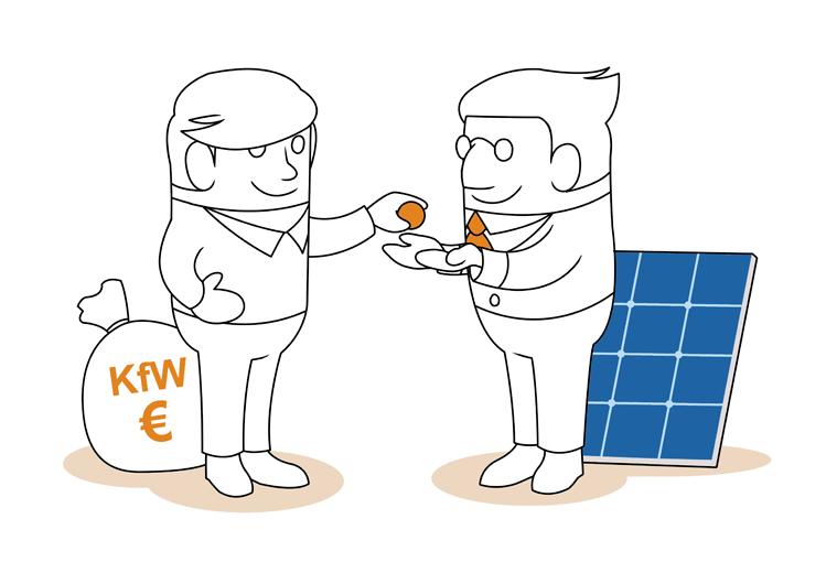 Förderungen der Photovoltaikanlage durch die KFW