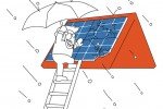 Hagelschaden an der Photovoltaikanlage