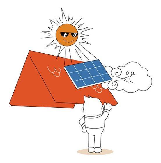 Hinterlüftung der Photovoltaikanlage